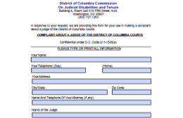 Complaint Form with CJDT address and info
